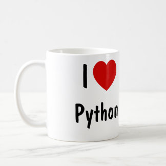 I Liebe-Pythonschlange-Programmierung Tasse