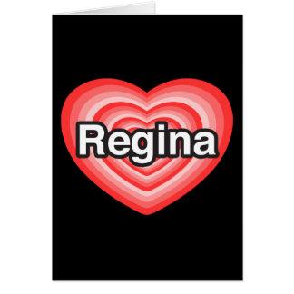 I Liebe Regina. Liebe I Sie Regina. Herz Karte