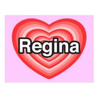 I Liebe Regina. Liebe I Sie Regina. Herz Postkarte