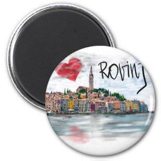 I Liebe Rovinj Runder Magnet 5,7 Cm
