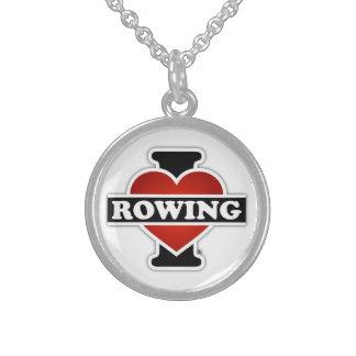 I Liebe-Rudern Sterlingsilber Halskette