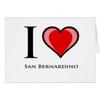 I Liebe San Bernardino Karte