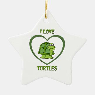 I Liebe-Schildkröten Keramik Stern-Ornament