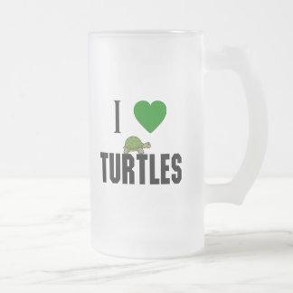 I Liebe-Schildkröten Mattglas Bierglas