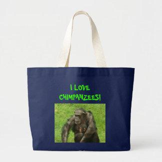 I Liebe-Schimpansen - Taschen-Tasche Jumbo Stoffbeutel