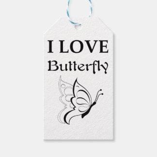 I Liebe-Schmetterling Geschenkanhänger