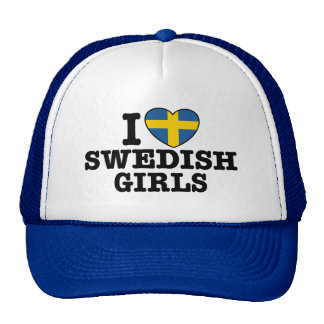 I Liebe-Schwede-Mädchen Trucker Caps