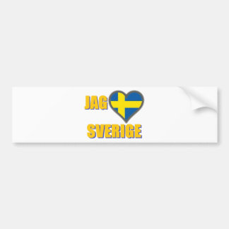 I Liebe Schweden (Zacke Älskar Sverige) Autoaufkleber