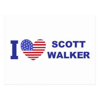 I Liebe-Scott-Wanderer Postkarte