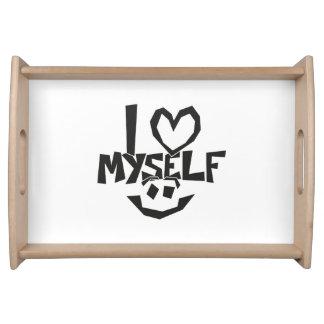I Liebe selbst smiley Tablett