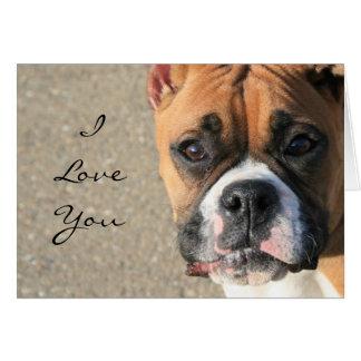I Liebe Sie Boxer-Hundegrußkarte Grußkarte