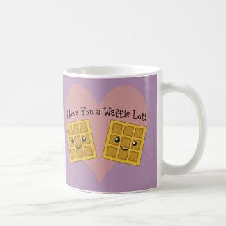 I Liebe Sie ein Waffel-Los! Kaffeetasse
