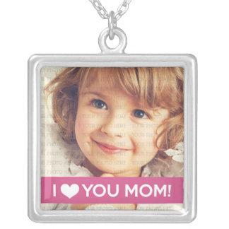 I Liebe Sie Mamma - kundenspezifisches Foto Halskette Mit Quadratischem Anhänger