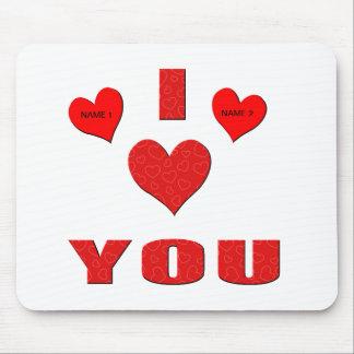 I Liebe Sie mit meinem ganzem Herzen Mousepads