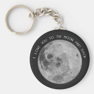 I Liebe Sie zum Mond-und Rückseiten-Starry Himmel Schlüsselanhänger