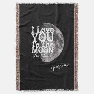 I Liebe Sie zum Mond und zur Rückseite mit Decke