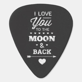 I Liebe Sie zum Mond und zur Rückseite Pick