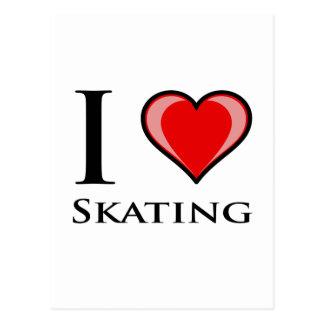 I Liebe-Skaten Postkarte
