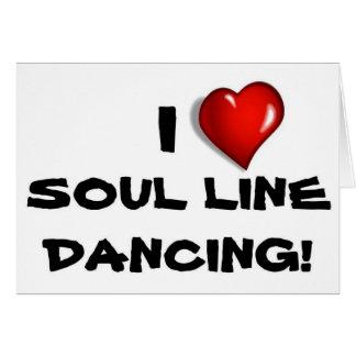I Liebe-Soul-Linie Tanzen! Grußkarte