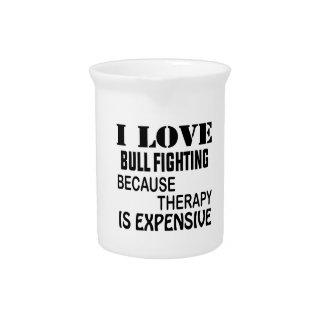 I Liebe-StierFighting, weil Therapie teuer ist Krug