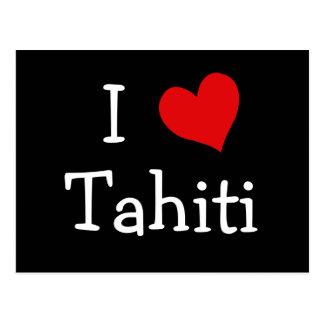 I Liebe Tahiti Postkarte