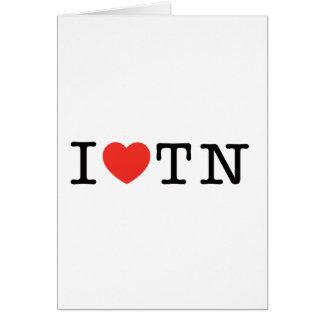 I LIEBE Tennessee Karte