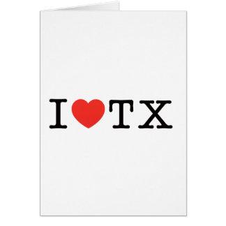 I LIEBE Texas Karte