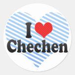 I Liebe-Tschetschene Runde Sticker