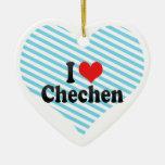 I Liebe-Tschetschene Weihnachtsbaum Ornament