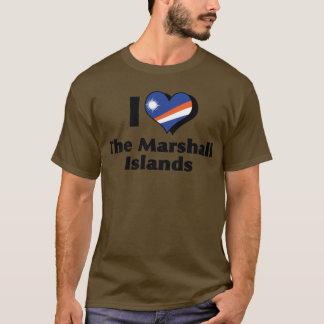 I Liebe, welche die Marshall Islands kennzeichnen T-Shirt