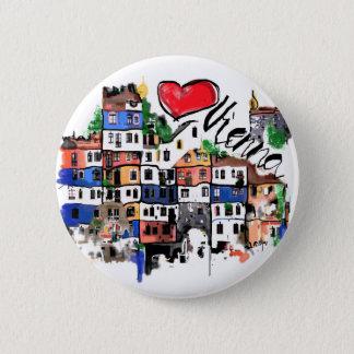 I Liebe Wien Runder Button 5,1 Cm
