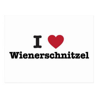 I Liebe wienerschnitzel Postkarte