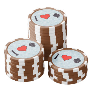 I Liebe-wilde Beeren Poker Chip Sets