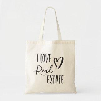 I Liebe-wirkliche Anwesenrealtor-Taschen-Tasche Tragetasche