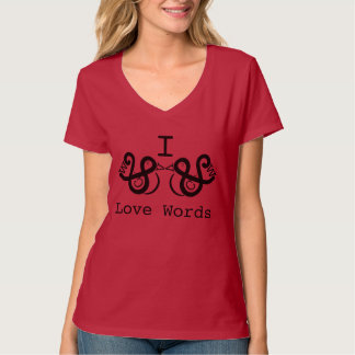 I Liebe-Wörter T-Shirt