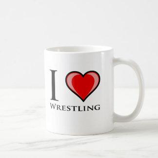 I Liebe-Wrestling Kaffeetasse