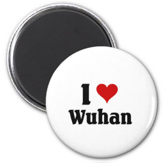 I Liebe Wuhan, China Runder Magnet 5,1 Cm