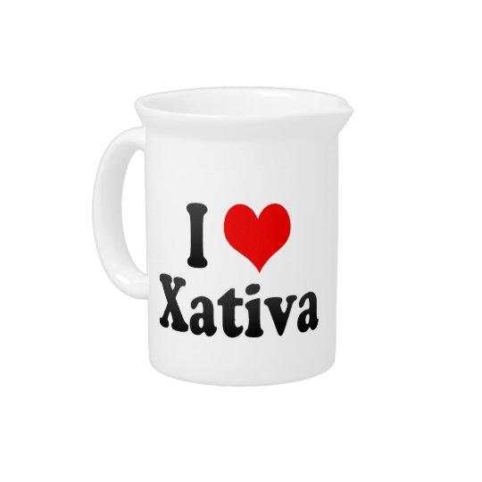 I Liebe Xativa, Spanien. Ich Encanta Xativa, Getränke Pitcher