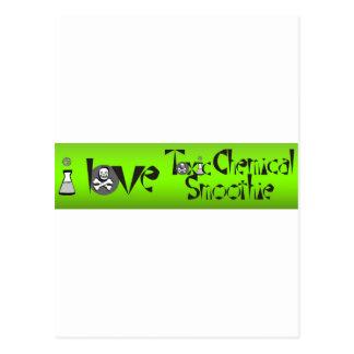 I Liebegiftiger chemischer Smoothie Postkarte
