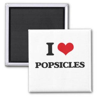 I LiebePopsicles Quadratischer Magnet