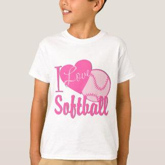 I Liebesoftball-Rosa T-Shirt