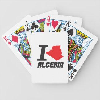 i love algeria bicycle spielkarten