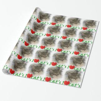 I love cats-Ich liebe Katzen Geschenkpapier