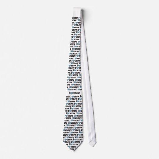 I love SNOW Individuelle Krawatte