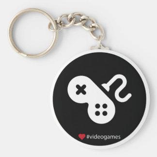 I Love Video Games Standard Runder Schlüsselanhänger