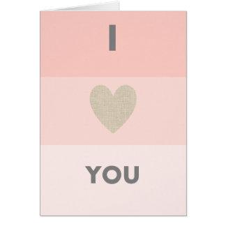 I love you card karte