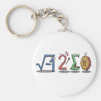 I Mathe-Schlüsselring 8 Summen-PUs (ich aß etwas Standard Runder Schlüsselanhänger