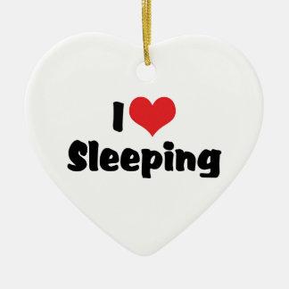 I schlafendes Liebeherz - Schlaf-Liebhaber Keramik Herz-Ornament