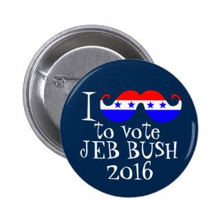 I Schnurrbart Sie, zum von Jeb Bush 2016 zu wählen Runder Button 5,1 Cm
