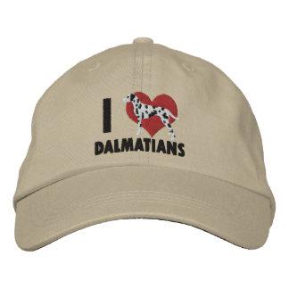 I stickten Liebe-Dalmatiner Hut Baseballcap